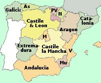Map Of South Of France Regions.Spain Motorway Map Route Planner