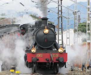 Preserved Spanish steam loco